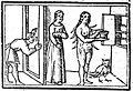 Métamorphose de Pamphile assistée de Photis, espionnée par Lucius.JPG