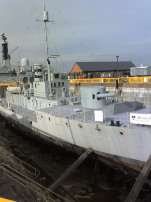 HMS M33 - M33 during restoration in February 2007