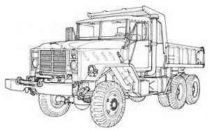 M939 series 5-ton 6x6 truck - M930 Dump Truck