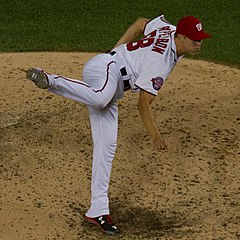 Jonathan Papelbon jako zawodnik Washington Nationals.