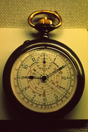 Chronograph - Electa Pocket Chronograph (ca. 1890s) manufactured by the Gallet Watch Company in La Chaux-de-Fonds, Switzerland.