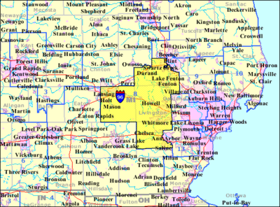 Southeastern Michigan Map.Michigan S 8th Congressional District Map The Full Wiki