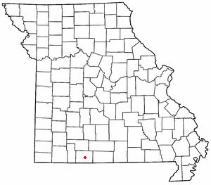 Kissee Mills, Missouri - Image: MO Map doton Kissee Mills
