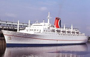 RMS Empress of Canada (1960) - Mardi Gras at Montreal, Canada on August 28, 1979.