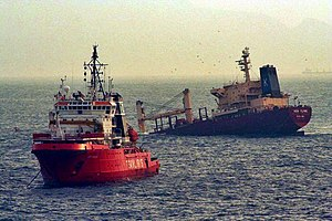 MV New Flame - Recovery efforts underway, 13 October 2007