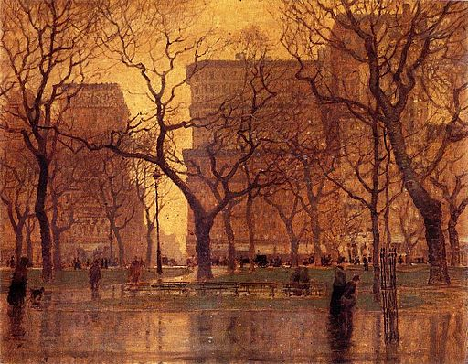 Madison Square After the Rain Paul Cornoyer