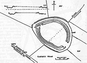 Maesbury Castle - Plan of earthworks at Maesbury Castle