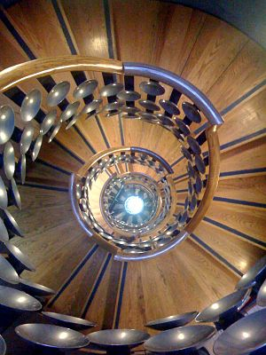 The Magic Circle - A staircase at the Magic Circle building