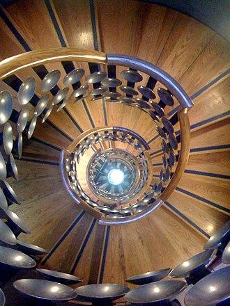 The Magic Circle (organisation) - A staircase at the Magic Circle building