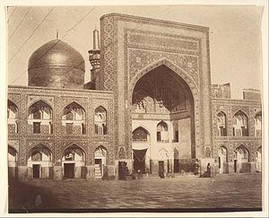 Imam Reza shrine - Main Gate of Imam Riza, Mashhad, Iran-1850s. Photo possibly by Luigi Pesce (Italian, 1818–1891)