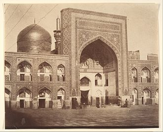 Imam Reza shrine - Main Gate of Imam Riza, Mashhad, Iran-1850s. Photo possibly by Luigi Pesce (Italian, 1818–1891)