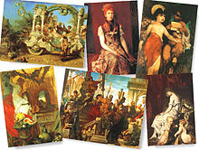 Makart, Hans - Selection of six paintings.jpg