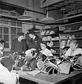Making Shoes For the Wrens- the Manufacture of Footwear For the Women's Royal Naval Service at a Factory in the Midlands, England, UK, 1944 D23050.jpg