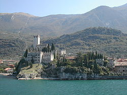 Lake Garda and the mountains above Malcesine.