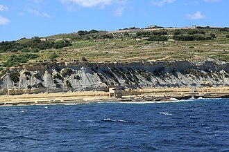Fort Campbell (Malta) - Fort Campbell as viewed from the sea
