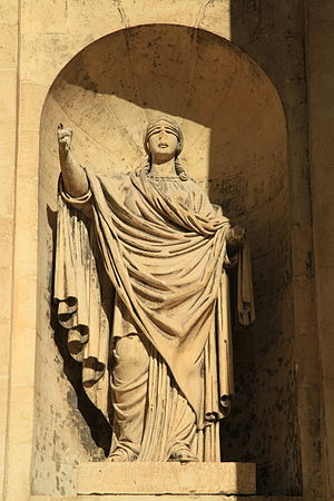 Monument to Sir Alexander Ball - One of Vincenzo Dimech's allegorical statues