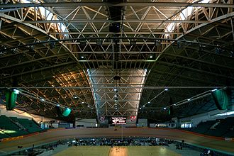 Manchester Velodrome - Internal view of the Velodrome.