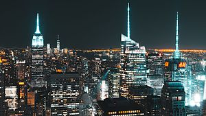 Manhattan Skyline night