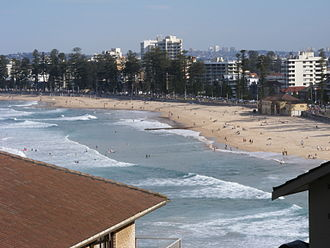 Manly, New South Wales - The northern end of Manly Beach, as viewed from Queenscliff