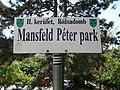 Mansfeld Péter park, névtábla, 2018 Budapest.jpg