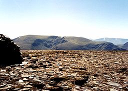 none  Maoile Lunndaidh seen from Mòruisg, five km to the NW. The massive corrie of Fuar Tholl Mòr can also be seen.