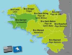Cornouaille - Cornouaille's location within Brittany