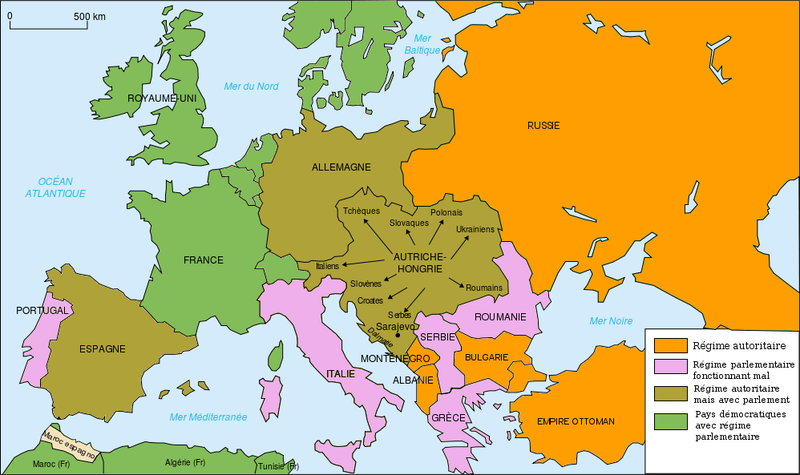 Fichier:Map Europe regimes 1914.png