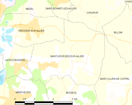 Mapa obce Saint-Georges-sur-Allier