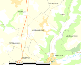 Mapa obce Anceaumeville
