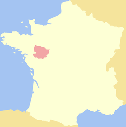Location of أنجوAnjou
