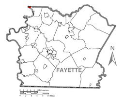 Map of Belle Vernon, Fayette County, Pennsylvania Highlighted.png