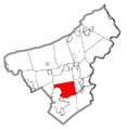Map of Bethlehem Township, Northampton County, Pennsylvania Highlighted.png