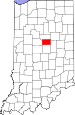 Map of Indiana highlighting Tipton County.svg