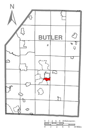 Map of Meadowood, Butler County, Pennsylvania Highlighted.png
