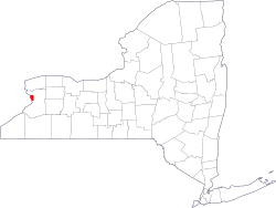 Location of Buffalo in New York State
