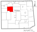 Map of Tioga County Pennsylvania Highlighting Chatham Township.PNG