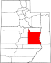 State map highlighting Emery County