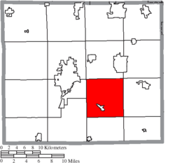 Location of East Union Township in Wayne County