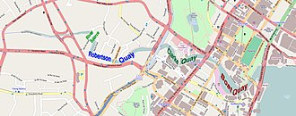 Robertson Quay - Image: Map of quays along the Singapore River