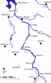 Map river weser kassel to bremerhaven.png