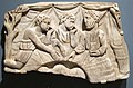 Marble relief showing a refrigerium (annual commemorative meal for the dead) from the vicinity of Ankara, Turkey, 3rd Century CE, Honolulu Academy of Arts.jpg