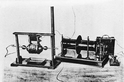Marconi 1897 spark gap transmitter