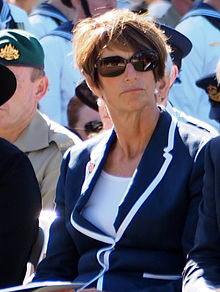 Margie Abbott at the Canberra Operation Slipper Welcome Home Ceremony in March 2015.jpg