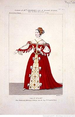 Marie Tudor-Costume de Melle Georges, rôle de Marie Tudor