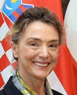 Marija Pejčinović Burić politician of Croatia