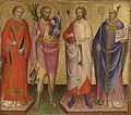 Mariotto di Nardo - Saints Lawrence, Christopher, Sebastian, and a Bishop Saint - Walters 37746.jpg