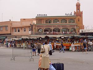 2011 Marrakesh bombing - The bombing site as it looked in 2006, well before the bombing took place, for comparison