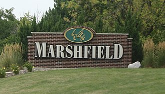 Marshfield, Wisconsin - Image: Marshfield Wisconsin Welcome Sign