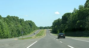 Maryland Route 4 - Southbound MD 2-4 in Calvert County