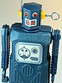 Masudaya – Tin Wind Up – Mini Radicon Robot (ミニ ラジコン ロボット) – Gang of Five – Close Up.jpg
